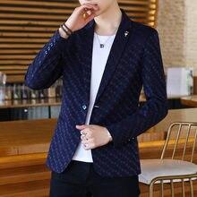 Мужские тонкие блейзеры куртка облегающее деловое повседневное