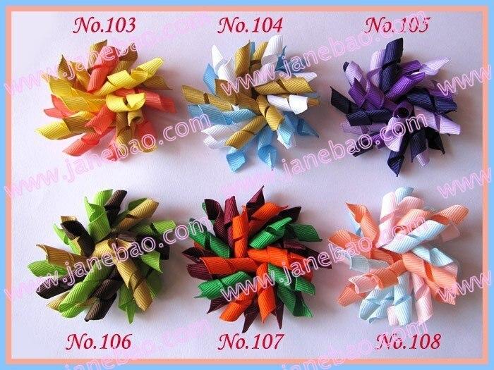 """60 шт 2,"""" коркер банты для волос(сшитые) смешанные цвета шевронная лента банты для волос коркер заколки с бантами для волос аксессуары"""