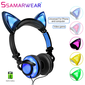 New Cat Ear Headphones With LE