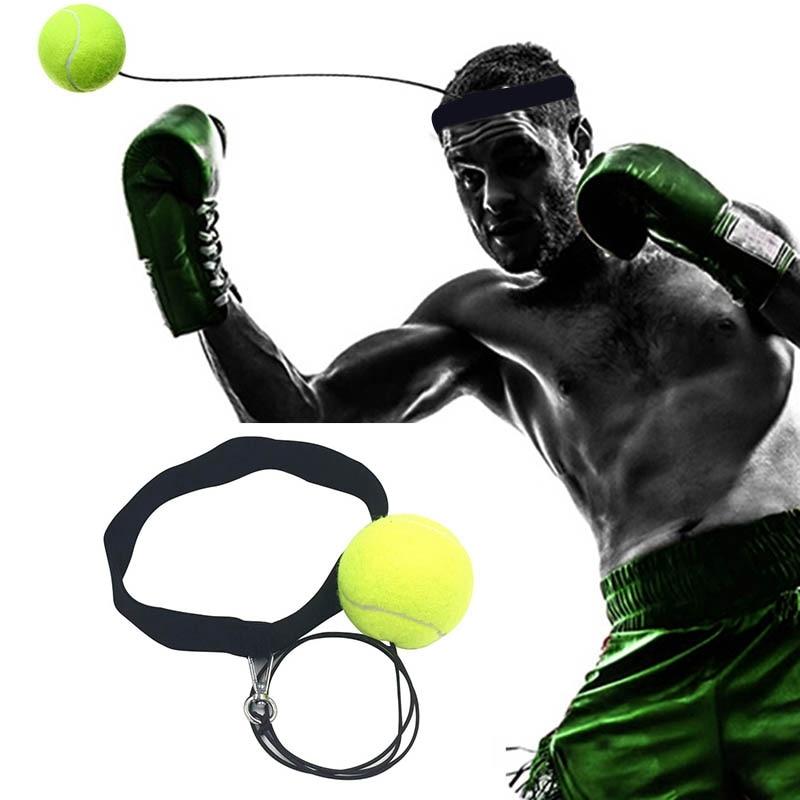 Bouncy Ball Fight эластичный мяч боксерское оборудование с головным диапазоном для тренировки скорости реакции боксерский удар упражнения Мода желтый