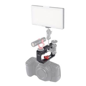 Image 4 - Andoer klatka operatorska kamery Rig uchwyt stabilizator wideo Rig dla klatka operatorska Monitor światło led do kamery mikrofon do lustrzanki cyfrowe