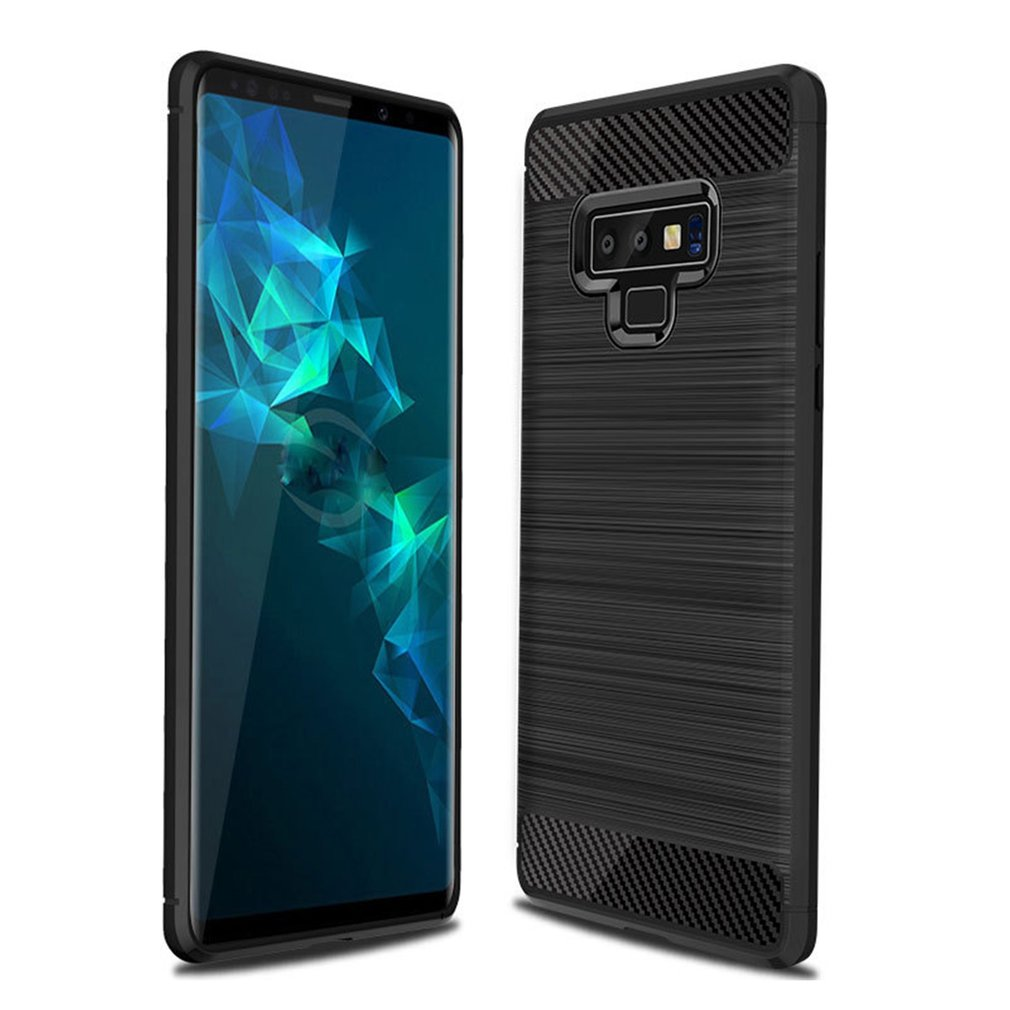 Carbon Fiber Silicone Phone Drawing Shell Anti Scratching Mobile Phone Case Cover For Samsung Note 9 Protective Full Cover