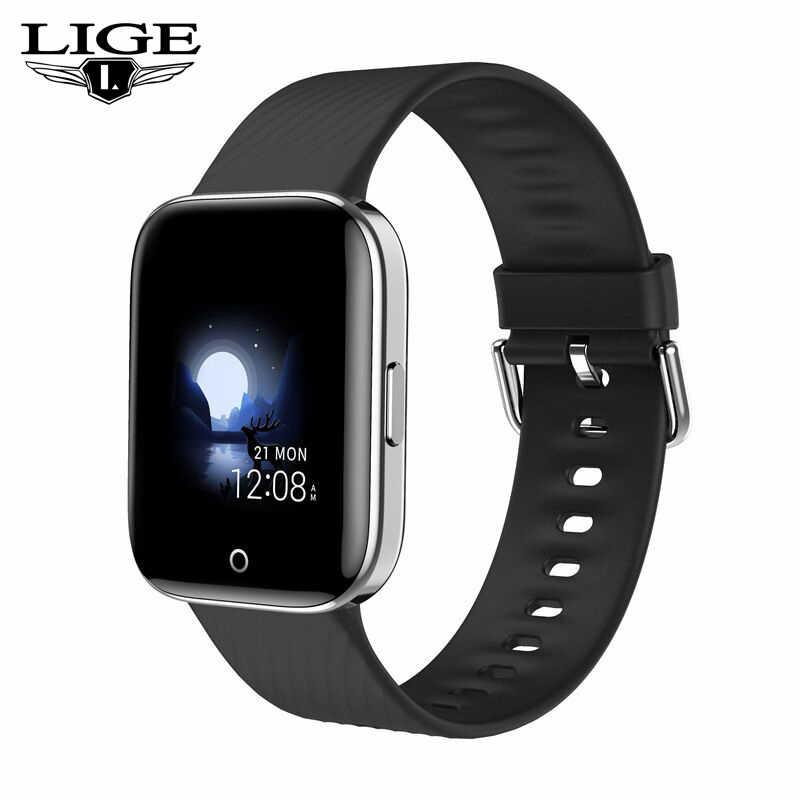 2020 Luik Nieuwe Smart Watch Vrouwen Bluetooth-verbinding Voor Android Ios Gezondheid Hartslagmeter IP68 Waterdichte Sport Horloge + Box