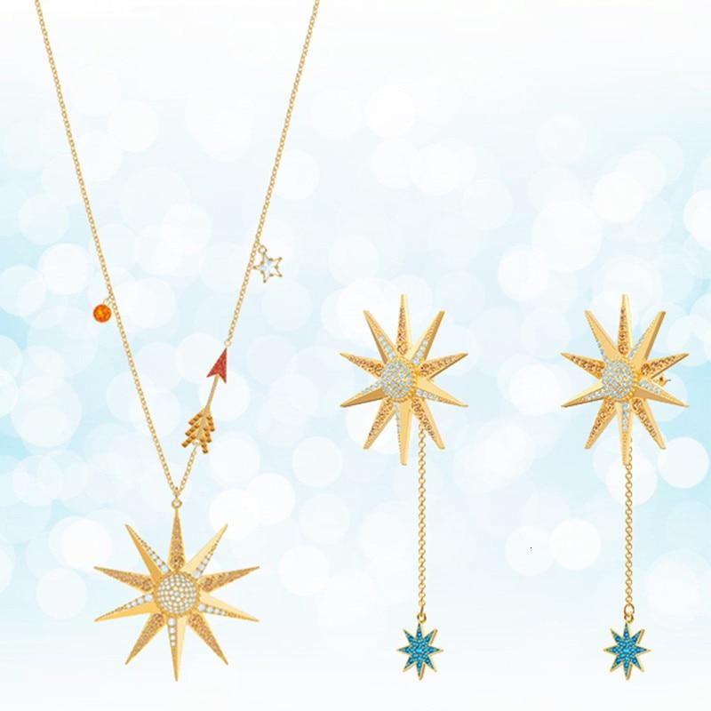 Collier en argent sterling pour femme avec étoiles de mer de 2019 nouvelle tendance de bijoux de mode européens et américains cadeau de vacances