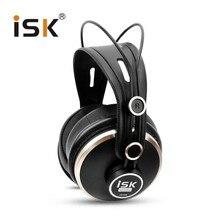 고급스러운 isk hd9999 pro hd 모니터 헤드폰 완전히 동봉 된 모니터링 이어폰 dj/오디오/믹싱/녹음 스튜디오 헤드셋