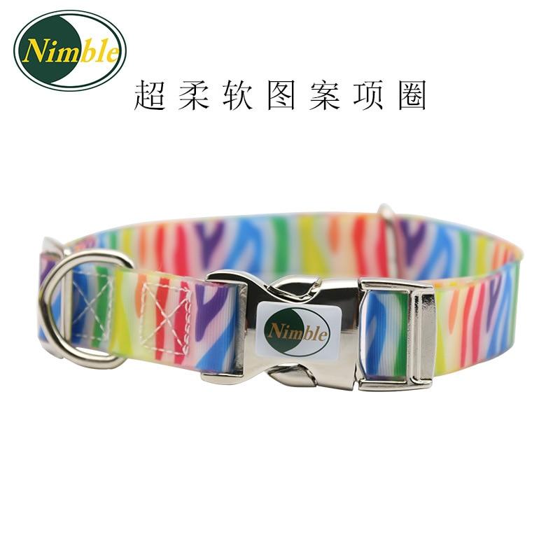 PVC Encapsulation Ribbon Waterproof Deodorizing Neck Ring Dirt Dog Adjustable Collar Pet Supplies