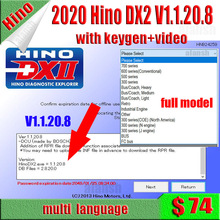 Hino DX2 v1.1.20.8 + Troubleshootings 데이터베이스 + Keygen Activator 용 Hino Diagnostic EXplorer 2 용 2020