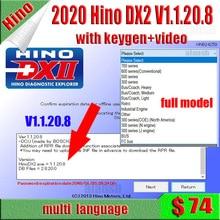 Outil de Diagnostic pour Hino DX2 v1.1.20.8 + base de données + activateur Keygen, scanner pour Hino DX2 v1.20.8, 2020