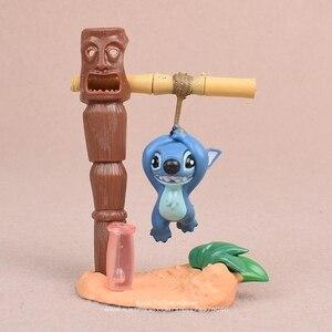 Image 4 - Disney Lilo i stich 5 sztuk/zestaw 5 7cm figurka Anime dekoracja kolekcja figurka mała lalka model zabawkowy dla dzieci prezent