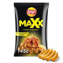 Чипсы Lay's Maxx куриные крылышки барбекю, 145 г