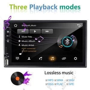 Image 2 - راديو سيارة من AMPrime 2 Din عالي الدقة ستيريو سيارة بشاشة 7 بوصات تعمل باللمس العالمية MP5 راديو سيارة USB FM AUX يدعم الكاميرا الاحتياطية ملحقات السيارة