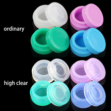 50pcslot 5ml non-stick round silicone container for oil wax dab jar approved by FDA colorful