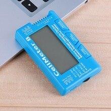 Araba dijital pil kapasitesi Checker pil voltmetre LCD arka LiPo Life Li ion NiMH Nicd için