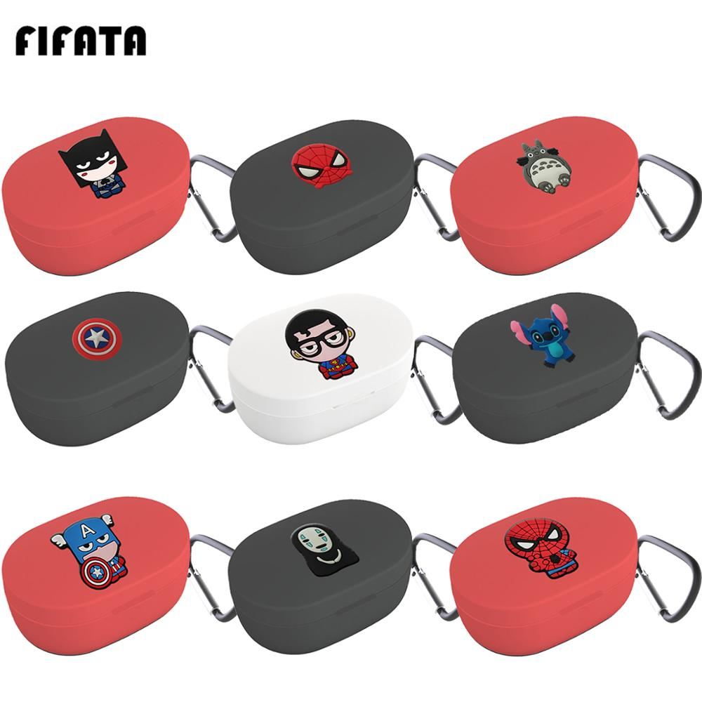 FIFATA The Avengers Earphone Cover For Redmi Airdots Case Cute Protection Frame With Keychain For Mi Airdots  Earphone Cases
