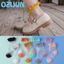 Kids Socks Spring Invisible Baby-Girls Summer Fashion Crystal Ultra-Thin New-Arrivals