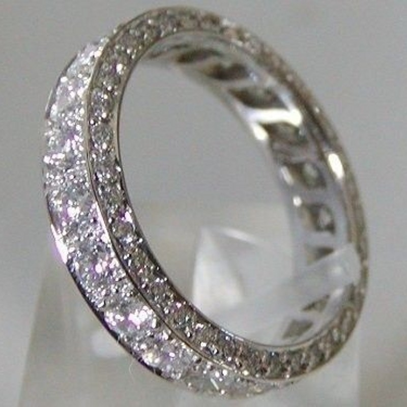 Handmade Promise Diamond ring 100% Real S925 Sterling Silver Engagement wedding band rings for women Bridal Finger Jewelry