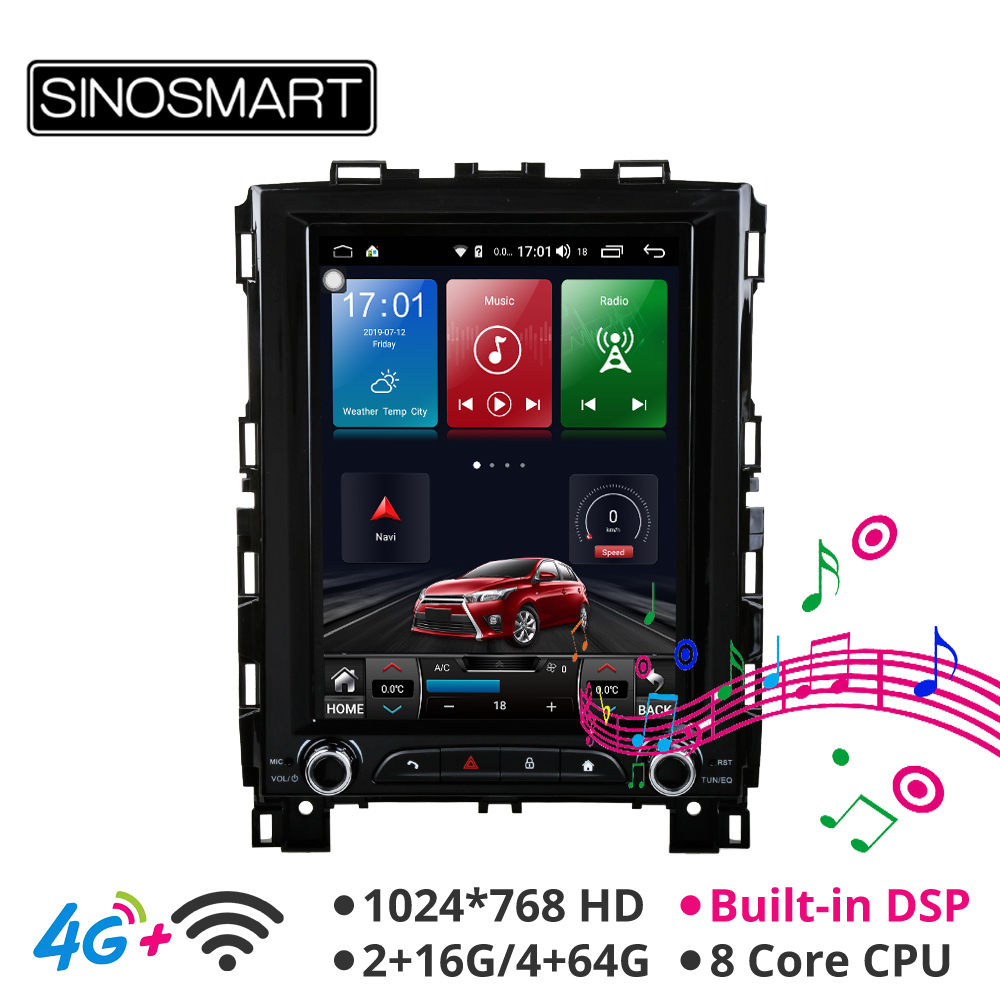 Sinosmart Android 8.1Tesla Style Vertical HD Screen Car Gps Radio Navigation Player For Renault Megane 4 Koleos 2017 2018 2019