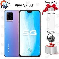 2020 Оригинал vivo S7 5G мобильный телефон 6,44 дюймAMOLED экран 8 ГБ + 128 ГБ Snapdragon 76 5G Восьмиядерный 64.0MP камера 4000 мАч Smarpthone