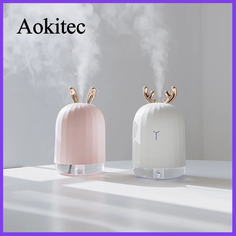 Air Humidifier Portable 220ML USB Electric Aroma Air Diffuser For Home Car Purifier USB Fogger Mist Maker With LED Night Lamp