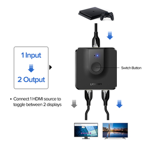 Image 3 - Ugreen HDMI Splitter 4K HDMI Switch for Xiaomi Mi Box Bi Direction 1x2/2x1 Adapter HDMI Switcher 2 in 1 out for PS4 HDMI Switch