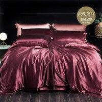 Silk four piece set Mulberry silk (25 Mum) heavy thick bedding set