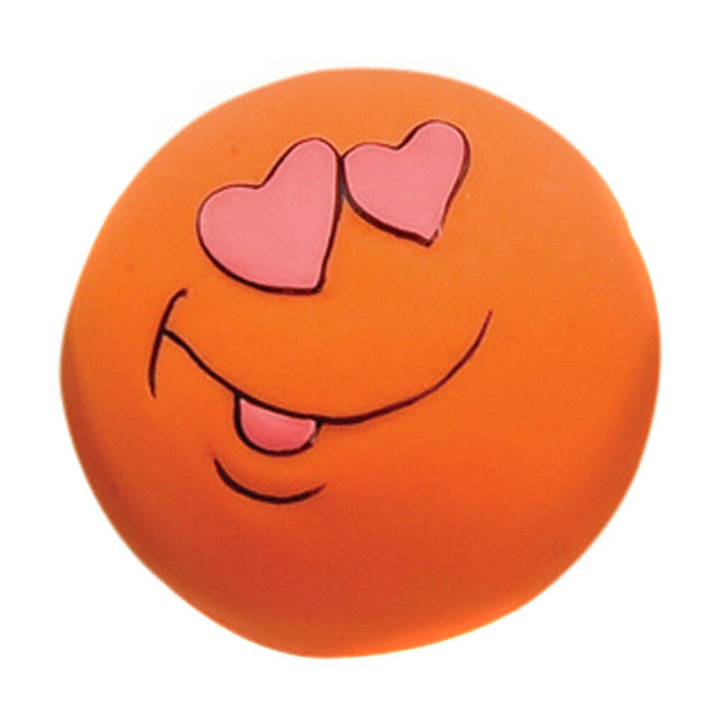 Do Promotion ! Rubber Dog Toys Pet Play Squeaky Ball Chewing Toy with Face Fetch Bright Balls Dog Supplies Puppy Popular Toys Popular Toys cb5feb1b7314637725a2e7: Blue|green|Orange|Pink|Red|Yellow