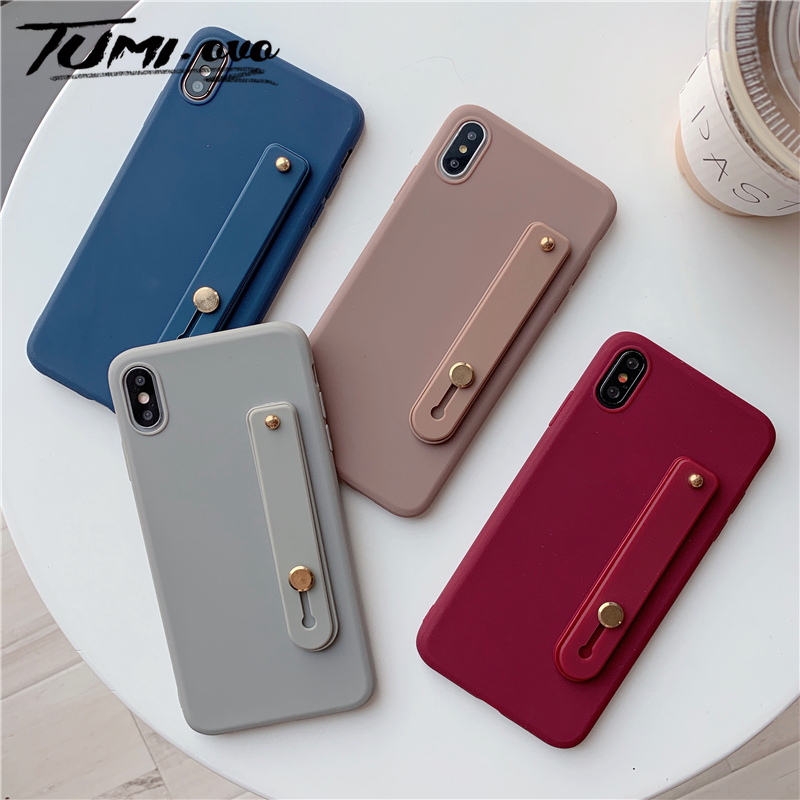 Wrist Strap Hand Band Silicone Case For Samsung Galaxy S6 S7 Edge S8 S9 Plus S10 Lite Note 5 8 9 10 A5 A6 A8 A7 A9 2018 Stand