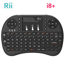 [Genuíno] rii mini i8 + 2.4g teclado de jogo sem fio retroiluminado, inglês hebrew russo com touchpad mouse para mini pc da tablet