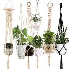 Лидер продаж ручной работы макраме для растений поднос для горшка для растений вешалка p Подвеска для растений из макраме поднос для сада поднос для растений