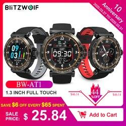 BlitzWolf BW-AT1 Relógio Inteligente Tela Sensível ao Toque Tela Inteira Dinâmica UI Interface de Frequência Cardíaca Pressão Arterial Monitor de Oxigênio Tempo Empurrar Pulseira Rastreador de Fitness Smartwatch Preto