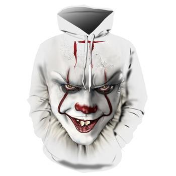 Hot Sale IT Chapter 2 3d Hoodie Sweatshirt Men/women Fashion Casual Hip Hop Streetwear IT Chapter 2 Long Sleeve Hooded Pullover