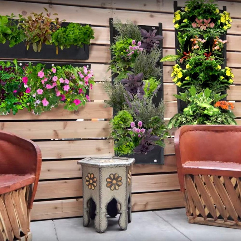 Practical Vertical Wall Hanging Planters,7 Pockets Indoor Outdoor Large Grow Bags for Balcony Garden Yard Office Home Decoration Home & Garden
