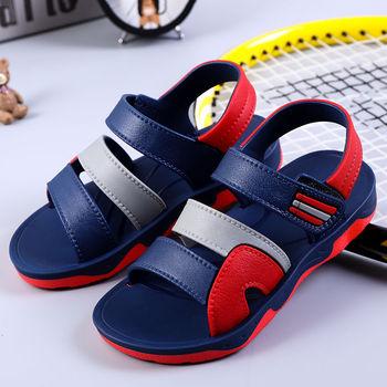 Chłopięce sandały dziecięce buty letnie dziecięce buty na plażę mieszane kolory casualowe sandały gumowe antypoślizgowe odkryte dziewczęce sandały sportowe tanie i dobre opinie Upbelaa Lato RUBBER Mężczyzna 25-36m 3-6y 7-12y CN (pochodzenie) Miękka skóra Płaskie Obcasy Pasek stawu skokowego
