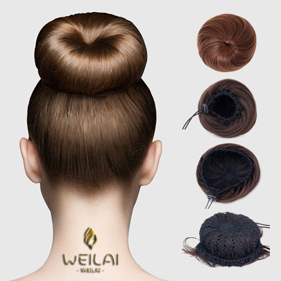 Ponytail For Women Fake Hair Bun Extension Clip In On Synthetic Hair Tail Donut Drawstring Chignon Hairpiece Updo Hair Piece