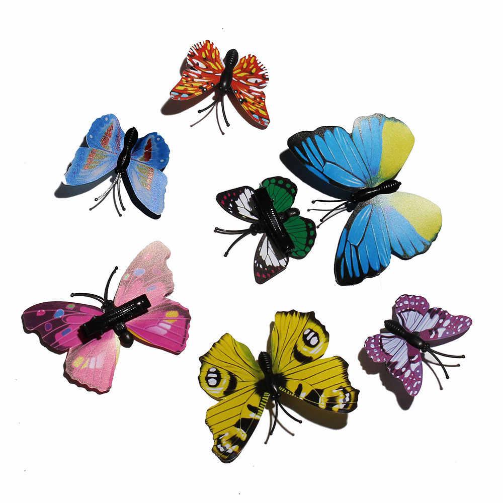 1 Uds horquilla sombrero de mariposa fiesta de Halloween niñas accesorios para el cabello LED de moda de las mujeres de fibra de emisión de luz horquilla