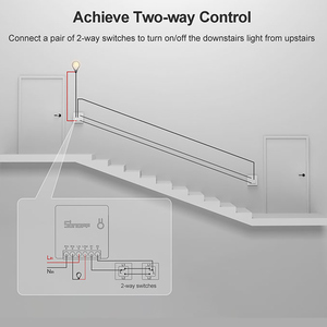 Image 2 - Умный выключатель ITEAD SONOFF MINI DIY, двусторонний Wi Fi/LAN/APP/голосовое дистанционное управление, работает с внешним выключателем, светильник Google Home Alexa