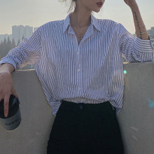 Women Blouse New Spring Autumn Casual Loose Long Sleeve Work Shirts Fashion Women Office Tops Striped Blouse For Business