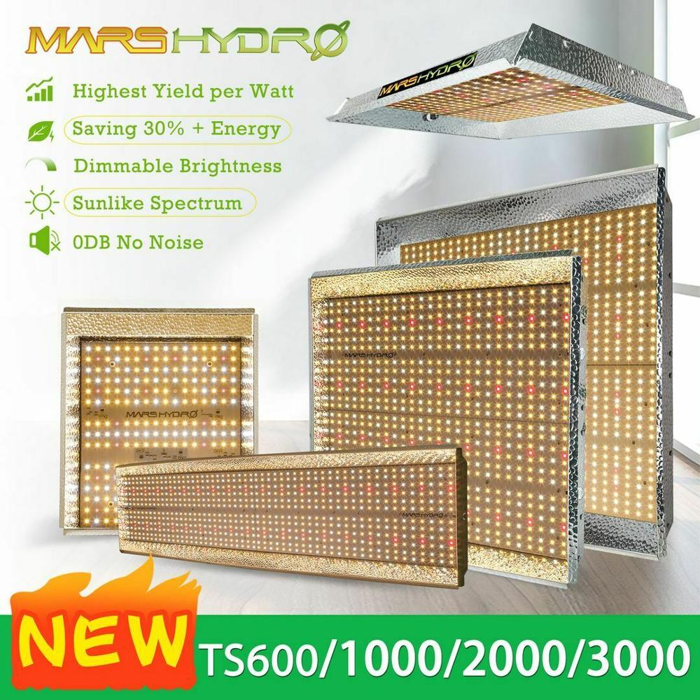 Mars Hydro TS 600W 1000W 2000W 3000W LED Grow Light Indoor Plants Veg Flower Replace HPS/HID Hydroponics Full Specturm