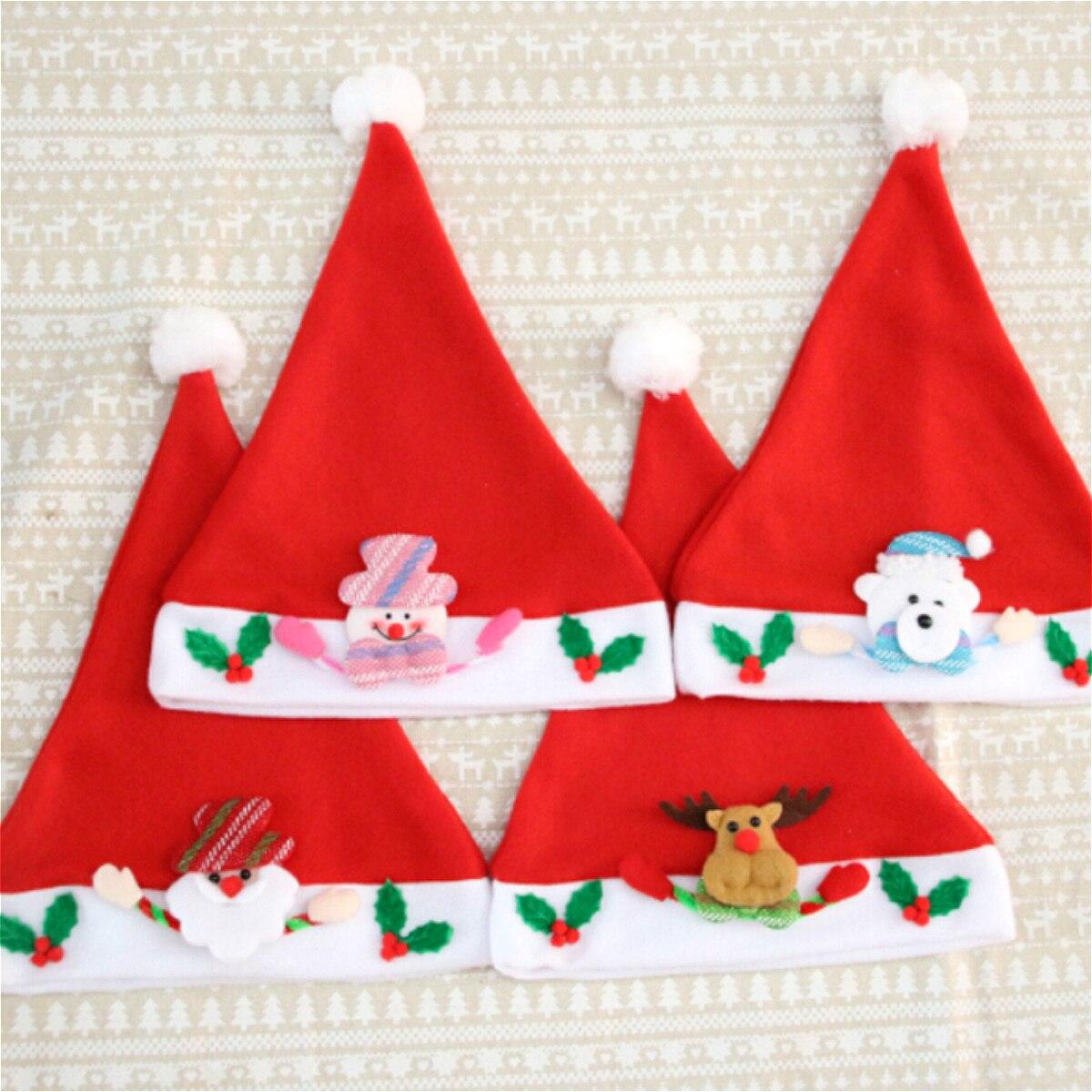 CHRISTMAS KIDS BABY HAT SANTA CLAUS REINDEER SNOWMAN SOFT CAPS HOT