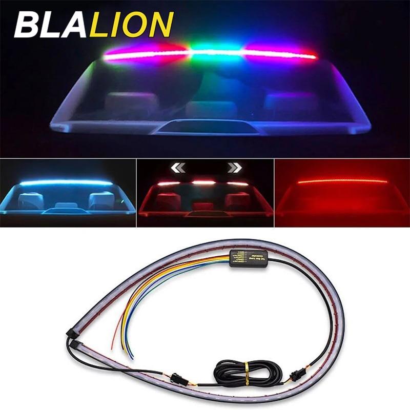 90cm Auto LED Hinten Zusätzliche Stop Licht Bremslicht 12V Blinker Lampe Bunte Auto Styling Sicherheit Fahren warnung Zubehör