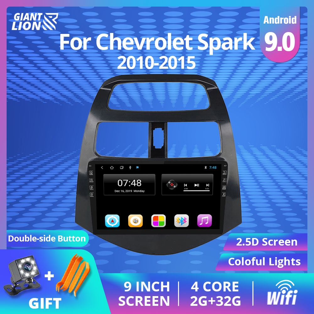 2din Android 9.0 Car Radio For Chevrolet Spark 2010-2015 Multimedia Video Player Navigation Bluetooth 2Din Car DVD Player