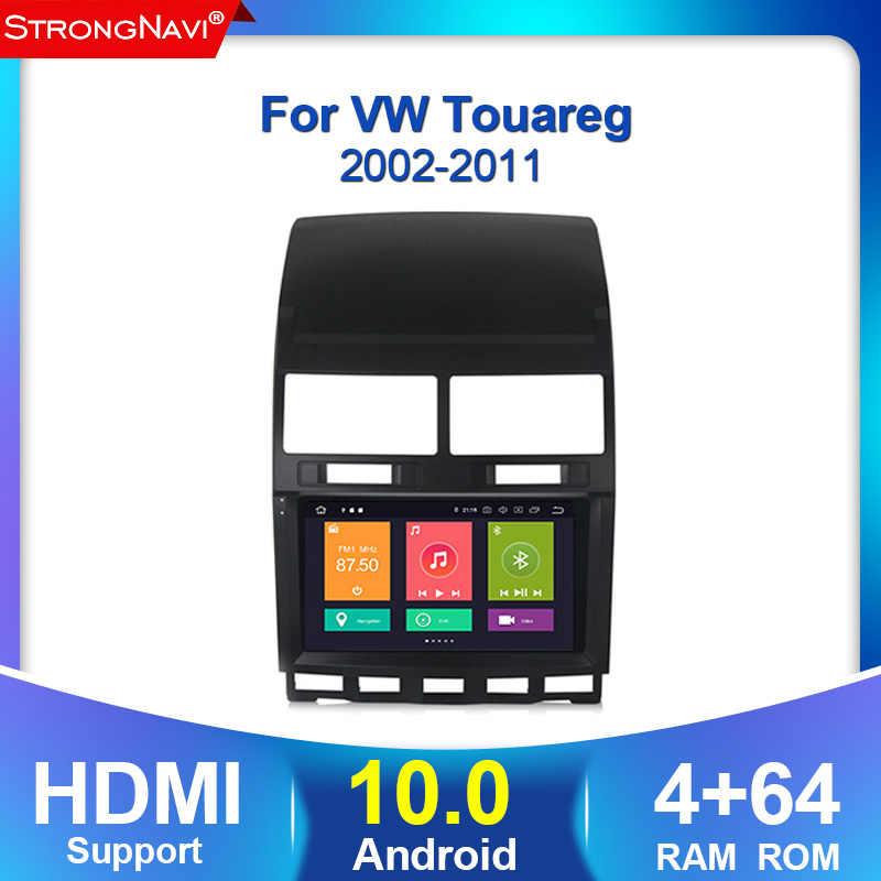2 din 4 4g lte 2.5D ips dsp カーラジオマルチメディア dvd したがって playe vw フォルクスワーゲントゥアレグ 2004 - 2011 トランスポーターアンドロイド 10.0 4 + 64 ギガバイト