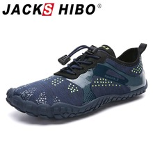 JACKSHIBO Men Water Shoes Sneakers Swimming Sport Beach Shoes Men Barefoot Sneakers Summer Breathable Surfing Water Aqua Shoes