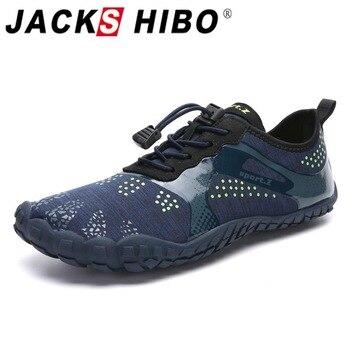 JACKSHIBO Men Water Shoes Sneakers Swimming Sport Beach Barefoot Summer Breathable Surfing Aqua