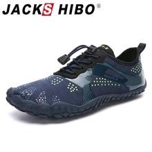 Jackshibo tênis masculino esportivo, para natação, para praia, pés descalços, respirável, para o verão, surf, água