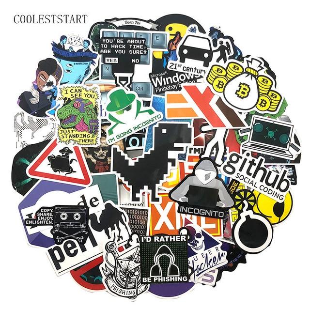 72Pcs/Pack Programmer Graffiti Stickers Hacker Programming Java For Luggage Skateboard Laptop Motorcycle PVC Sticker For Kid