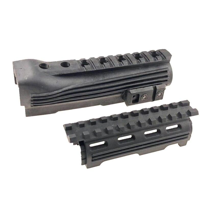 Spor ve Eğlence'ten Avcılık Silah Aksesuarları'de Taktik polimer RIS raylı AK Handguard 47 74 serisi avcılık tüfek tabanca aksesuarları siyah title=