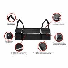 Car Trunk Organizer Backseat Storage Bag High Capacity Multi-use Felt Storage Box Car Seat Back Organizers Interior Accessories