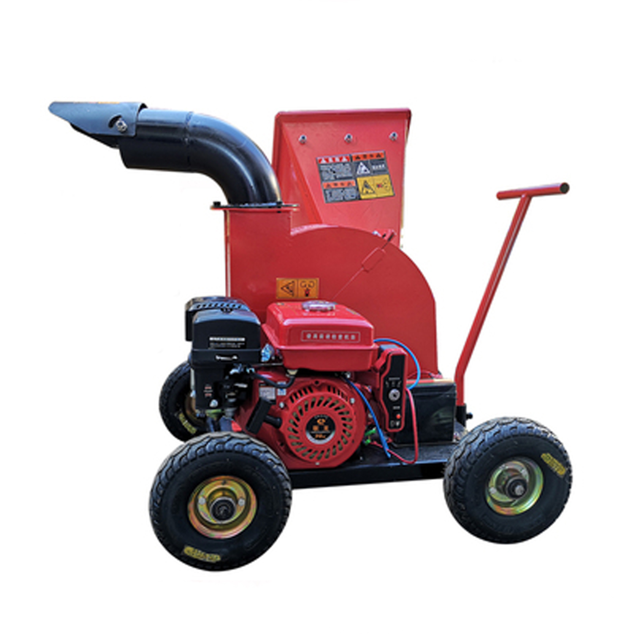Tree Shredderorchard Wood ShredderGarden Leaf Tree Garden Chipperbranch Mobile Shredder Small Twig Shreddergasoline