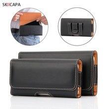 Universal 6.5-4.0 polegada bolsa caso do telefone para o iphone se 11 para samsung xiaomi magnética cintura saco de couro caso cinto clipe coldre